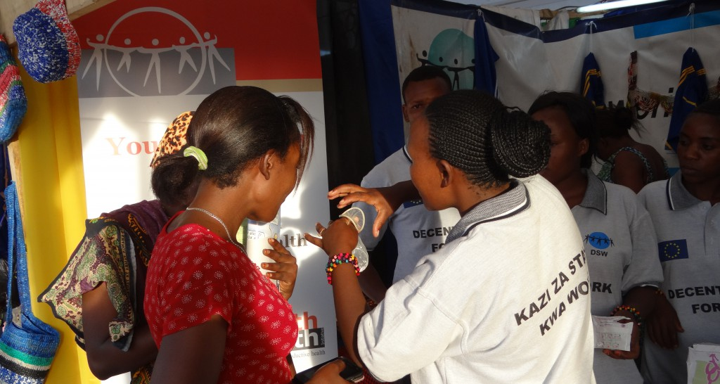 DSW's Youth Champions Participating on the National Youth Week, Tanzania