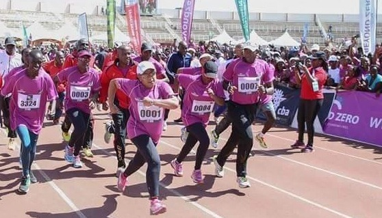 IWD 2015: Kenya's First Lady Rallies Thousands to Run for Maternal and Child Health on International Women's Day
