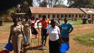 IWD 2015: DSW and Partners Clean Tororo District General Hospital