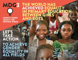 WPD 2015: taking stock of the MDGs (pt. 2): Gender Equality