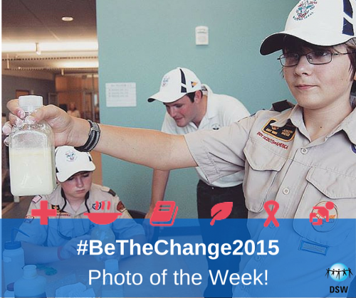 #BeTheChange2015 competition – our weekly winner!