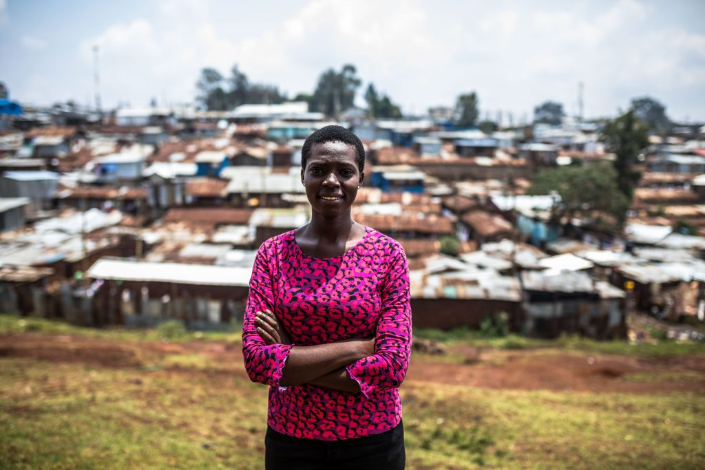Daphne Adhiambo, 23,social activist for women and girls , in Kibera, Nairobi