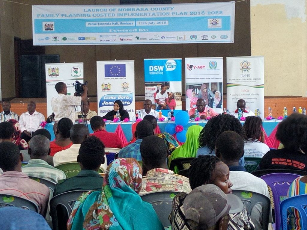Mombasa County Family Planning Costed Implementation Plan Launch PHOTO/DSW