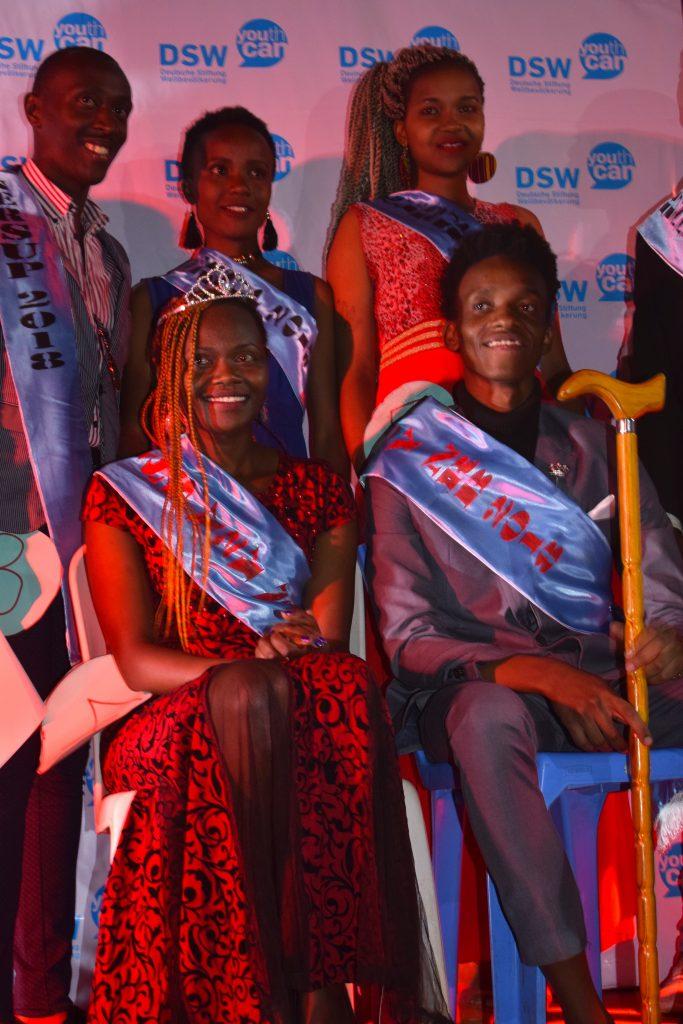 Lucy Wairimu, 21 the newly crowned Miss Y2Y Nairobi 2018 and Michael John, 19, Mr. Y2Y Nairobi 2018