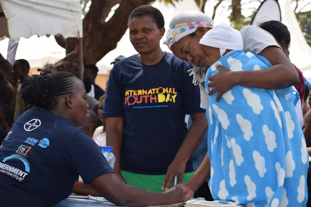 Service delivery at the International Youth Day event in Nairobi PHOTO | DSW
