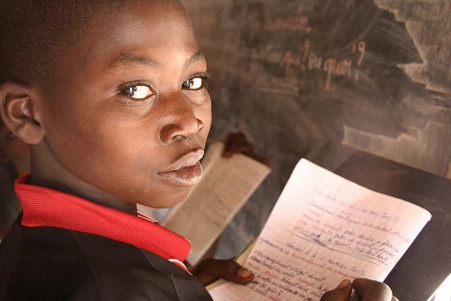 Schülerin in der Zentralafrikanischen Republik
