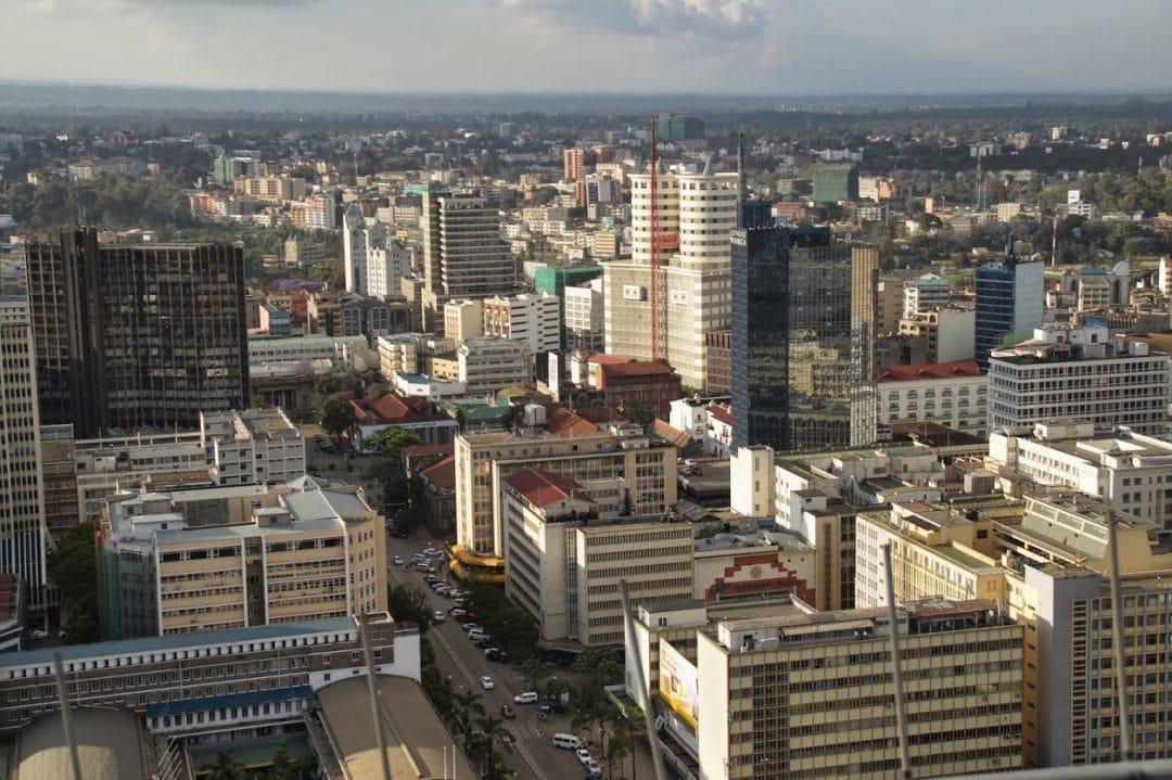 Urbanisierung: Stadtansicht von oben