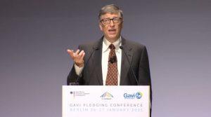 Bill Gates bei der Geberkonferenz für die Impfallianz Gavi