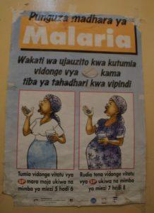Plakat zu Malaria in Tansania