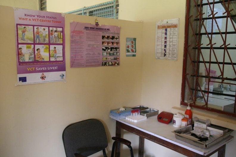 Arztzimmer in einem Gesundheitszentrum in Kenia