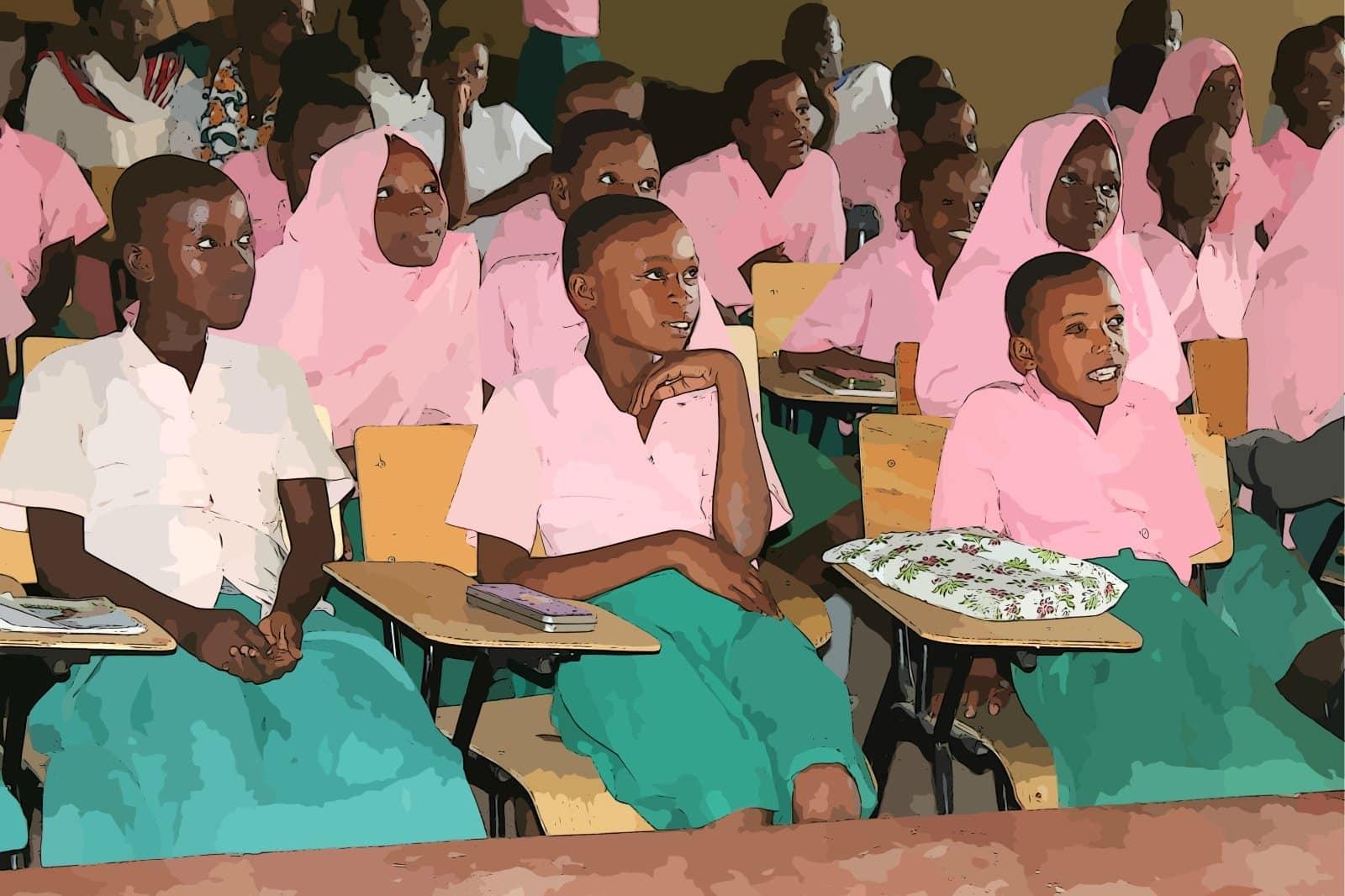 Afrikanische Mädchen in der Schule