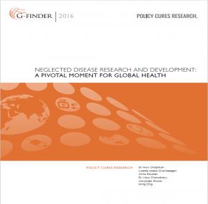 Titelseite der G-Finder-Studie zu weltweiten Investitionen in Armutskrankheiten