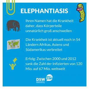 Wurmkrankheiten: Steckbrief Elephantiasis