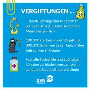Vergiftung: Steckbrief Vergiftungen durch Schlangenbisse