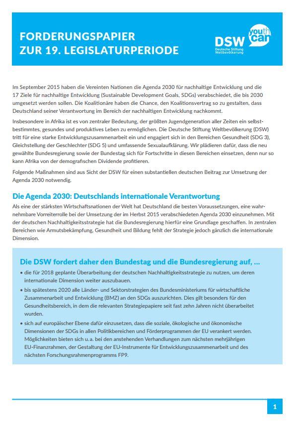 Publikationen der Deutschen Stiftung Welbevölkerung
