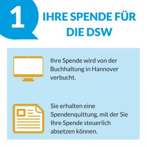 Spende für die DSW