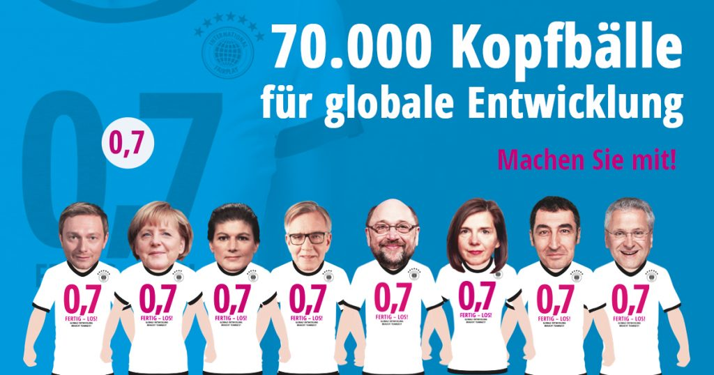 70.000 Kopfbälle für globale Entwicklung