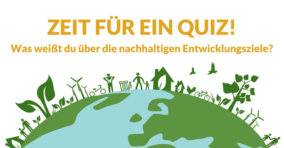 Quiz: Was weißt du über die nachhaltigen Entwicklungsziele?