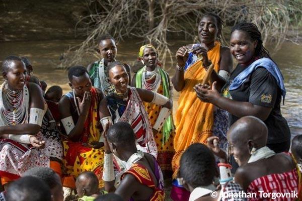 Aufklärungsveranstaltung für junge Massai