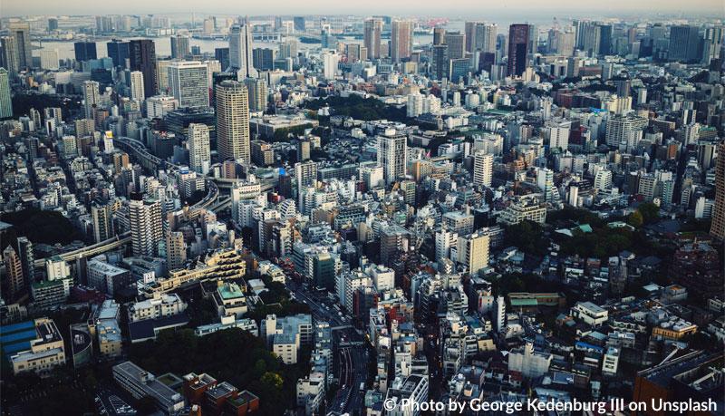 Urbanisierung: Stadtansicht von Tokio