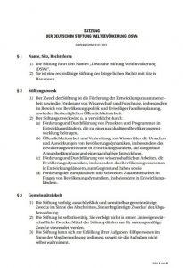 Vorschaubild: Satzung der Deutschen Stiftung Weltbevölkerung (DSW)