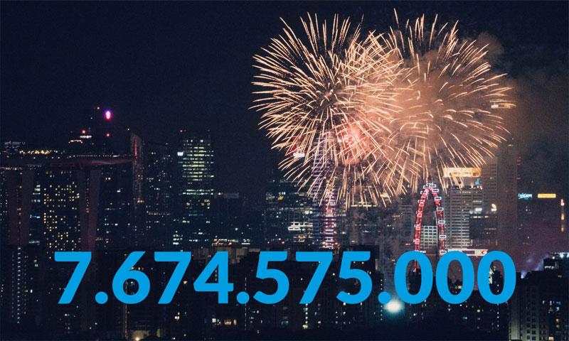 Zum Jahreswechsel 2018/19 leben 7.674.575.000 Menschen auf der Erde. Photo by chuttersnap on Unsplash
