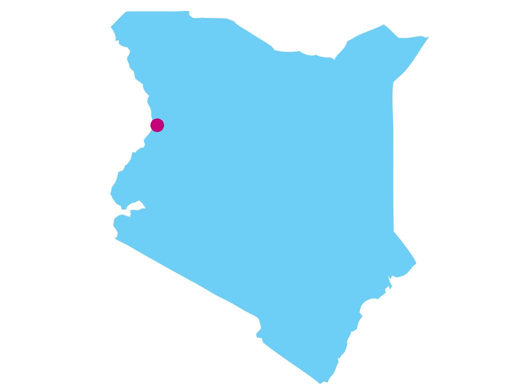Die Region West Pokot in Kenia