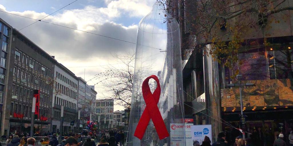 DSW setzt größtes Zeichen gegen Aids