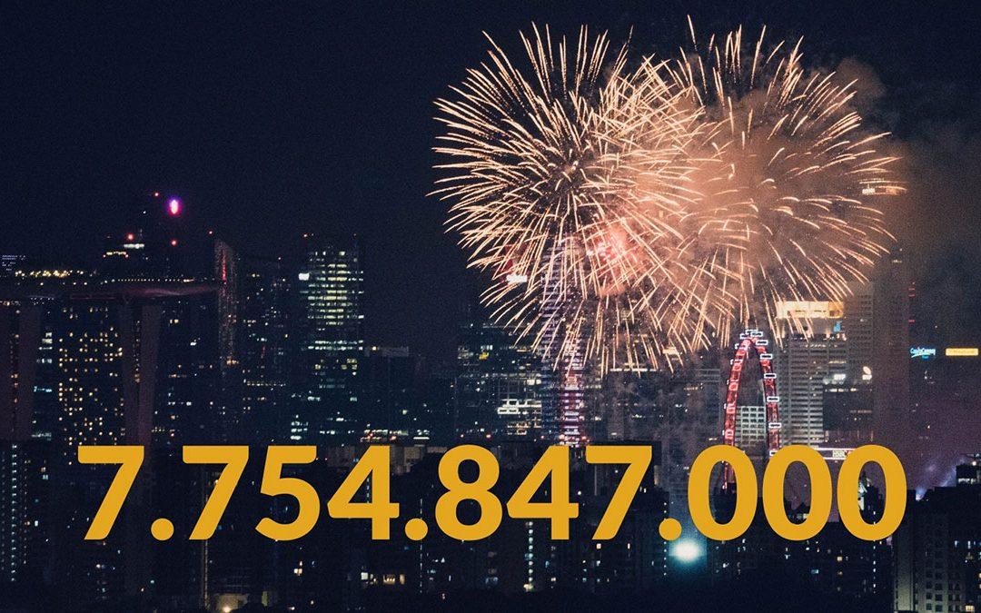 Weltbevölkerung zum Jahreswechsel 2019/2020: Mit 7.754.847.000 Menschen in die neue Dekade